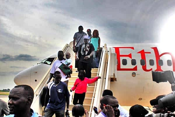 Ethiopian airlines and other Planes still land in Juba despite the ban