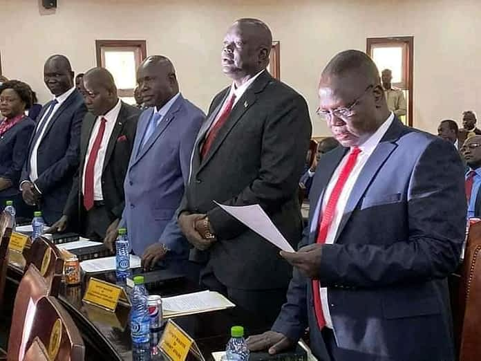 RTGoNU cabinet ministers being sworn in